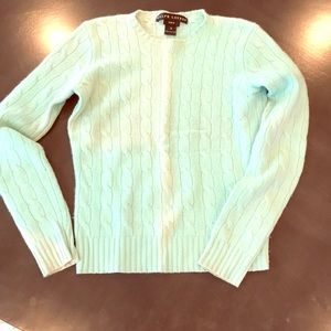 Ralph Lauren cashmere mint green sweater.